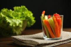 Υγιές πρόχειρο φαγητό από τα ακατέργαστα χρωματισμένα λαχανικά Στοκ φωτογραφίες με δικαίωμα ελεύθερης χρήσης