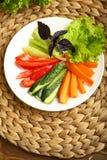 Υγιές πρόχειρο φαγητό από τα ακατέργαστα χρωματισμένα λαχανικά Στοκ εικόνα με δικαίωμα ελεύθερης χρήσης
