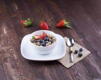 Υγιές πρόχειρο φαγητό, τρόφιμα ικανότητας Στοκ Φωτογραφίες