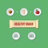 Υγιές πρόχειρο φαγητό infographic Στοκ εικόνα με δικαίωμα ελεύθερης χρήσης