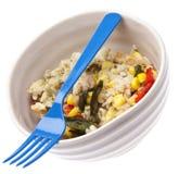 υγιές ρύζι πιπεριών γεύματ&omicr Στοκ Εικόνες