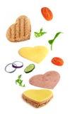 υγιές σάντουιτς Στοκ Φωτογραφίες