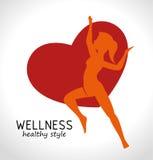 υγιές σχέδιο ύφους wellness απεικόνιση αποθεμάτων