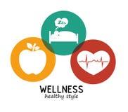 υγιές σχέδιο ύφους wellness διανυσματική απεικόνιση