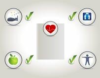 Υγιές σχεδιάγραμμα διαβίωσης, καλή ποιότητα ζωής Στοκ Εικόνα