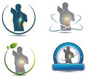 Υγιές σύμβολο σπονδυλικών στηλών διανυσματική απεικόνιση