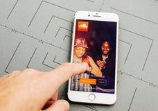 Υγιές σύννεφο app στο iPhone 7 συν τα προγράμματα εφαρμογών Στοκ φωτογραφία με δικαίωμα ελεύθερης χρήσης