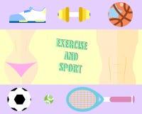 Υγιές σώμα με την άσκηση και τον αθλητισμό διανυσματική απεικόνιση