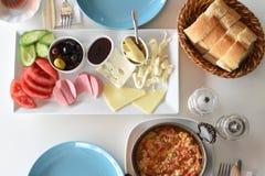 Υγιές τουρκικό πρόγευμα Στοκ Εικόνα