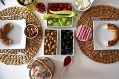 Υγιές τουρκικό πρόγευμα Στοκ φωτογραφία με δικαίωμα ελεύθερης χρήσης