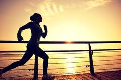 Υγιές τρέξιμο αθλητριών τρόπου ζωής στοκ φωτογραφία με δικαίωμα ελεύθερης χρήσης