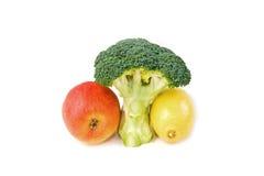 υγιές τρίο τροφίμων Στοκ Εικόνες
