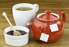 υγιές τσάι μελιού Στοκ Εικόνες