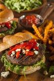 Υγιές χορτοφάγο Burger μανιταριών Portobello Στοκ Εικόνες