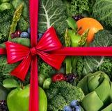 Υγιές δώρο τροφίμων διανυσματική απεικόνιση