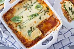 Υγιές lasagna bolognese κολοκυθιών Στοκ φωτογραφίες με δικαίωμα ελεύθερης χρήσης