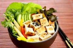 υγιές tofu σαλάτας τροφίμων Στοκ εικόνες με δικαίωμα ελεύθερης χρήσης