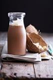 Υγιές vegan κούνημα καρύδων σοκολάτας στοκ φωτογραφίες