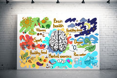 Υγιής έννοια εγκεφάλου διανυσματική απεικόνιση