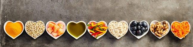 Υγιής έννοια εμβλημάτων συστατικών μαγειρέματος στοκ εικόνες
