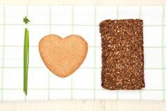 υγιής αγάπη τροφίμων Στοκ Φωτογραφίες