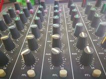 υγιής ακουστικός εξισωτής ελέγχου πινάκων στοκ φωτογραφίες με δικαίωμα ελεύθερης χρήσης