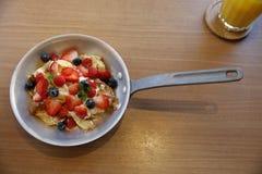 Υγιής γλυκιά σαλάτα φρούτων Στοκ Φωτογραφία