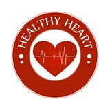 Υγιής διανυσματική απεικόνιση εικονιδίων συμβόλων καρδιών που απομονώνεται με τη γραμμή κτύπου της καρδιάς ελεύθερη απεικόνιση δικαιώματος