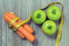 υγιής διατροφή έννοιας Τοπ φωτογραφία άποψης του πράσινου φρέσκου appl Στοκ εικόνα με δικαίωμα ελεύθερης χρήσης