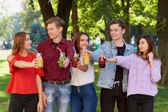 υγιής διατροφή Φίλοι που πίνουν detox το τσάι Στοκ εικόνα με δικαίωμα ελεύθερης χρήσης