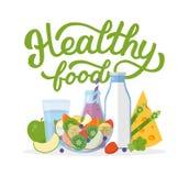 Υγιής εγγραφή χεριών τροφίμων Στοκ εικόνες με δικαίωμα ελεύθερης χρήσης