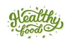 Υγιής εγγραφή χεριών τροφίμων Στοκ Εικόνα