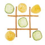 Υγιής εναντίον των ανθυγειινών τροφίμων Στοκ Εικόνες