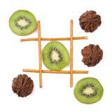 Υγιής εναντίον των ανθυγειινών τροφίμων Στοκ Εικόνα