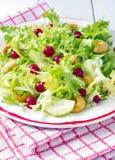 Υγιής εύκολη φυτική σαλάτα, ελαφριές θερινές σαλάτες Διαιτητικές συνταγές στοκ εικόνα