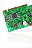 Υγιής κάρτα υπολογιστών και πλήμνη USB που απομονώνεται στο λευκό Στοκ Εικόνα