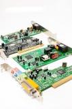 Υγιής κάρτα υπολογιστών και πλήμνη USB που απομονώνεται στο λευκό Στοκ Εικόνες