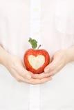 υγιής καρδιά μήλων Στοκ Εικόνα