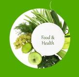 Υγιής κατάλογος επιλογής τροφίμων Στοκ φωτογραφία με δικαίωμα ελεύθερης χρήσης