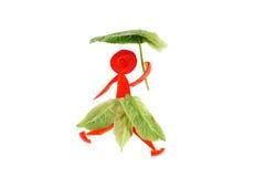 Υγιής κατανάλωση. Λίγη αστεία γυναίκα του πιπεριού. Στοκ φωτογραφίες με δικαίωμα ελεύθερης χρήσης