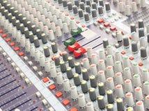 Υγιής μουσική ελέγχου αναμικτών Στοκ φωτογραφία με δικαίωμα ελεύθερης χρήσης