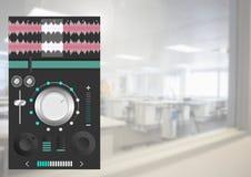 Υγιής μουσική και ακουστική App εξισωτών εφαρμοσμένης μηχανικής παραγωγής διεπαφή Στοκ Εικόνες