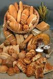 υγιής ομάδα τροφίμων ψωμιού με τα καρυκεύματα Στοκ Εικόνα