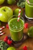 Υγιής πράσινος χυμός Smoothi λαχανικών και φρούτων Στοκ εικόνες με δικαίωμα ελεύθερης χρήσης