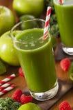 Υγιής πράσινος χυμός Smoothi λαχανικών και φρούτων Στοκ φωτογραφία με δικαίωμα ελεύθερης χρήσης