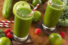 Υγιής πράσινος χυμός Smoothi λαχανικών και φρούτων Στοκ Φωτογραφία