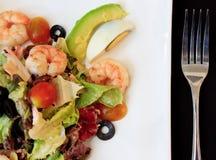 υγιής σαλάτα γαρίδων αβο& Στοκ Εικόνα