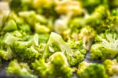 Υγιής σαλάτα με το μπρόκολο στοκ εικόνα με δικαίωμα ελεύθερης χρήσης