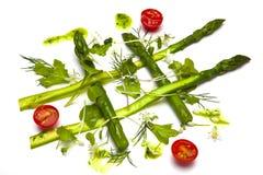 υγιής σαλάτα σπαραγγιού Στοκ εικόνες με δικαίωμα ελεύθερης χρήσης