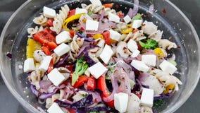 υγιής σαλάτα ζυμαρικών στοκ εικόνες με δικαίωμα ελεύθερης χρήσης